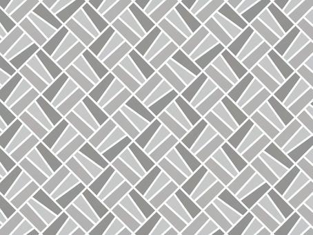 不規則方形瓷磚背景(灰色)