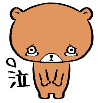 Bear tears sorry brown