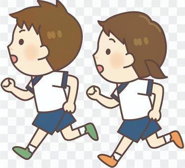 健身房西裝_跑步男孩·女孩