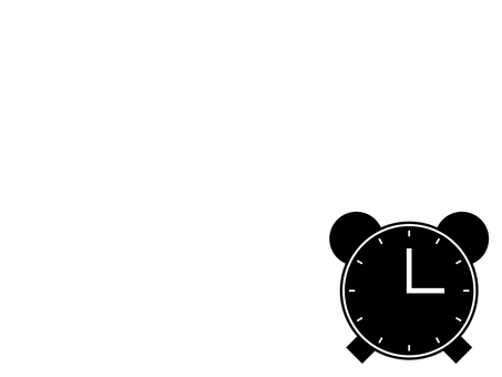 Alarm clock icon: Black: 12 scales