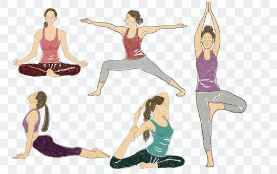 瑜伽姿勢集