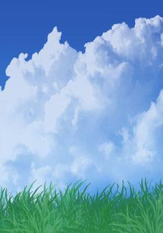 藍天積雨雲背景
