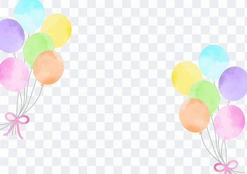 Watercolor balloon frame