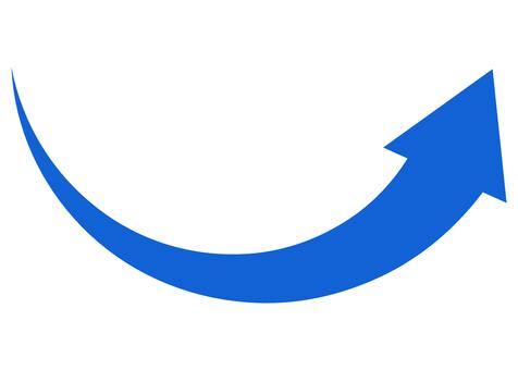 Arrow Arrow with momentum Mountain arrow Blue