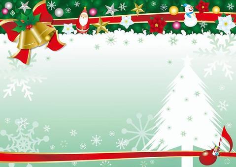 聖誕冬青和貝爾和絲帶框架