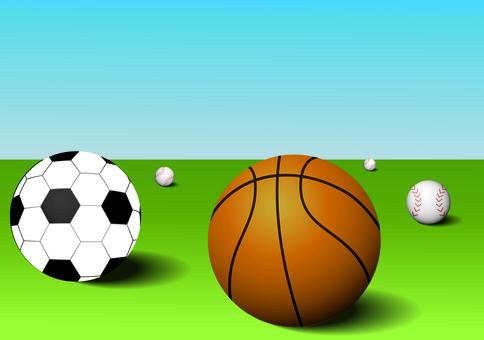足球,籃球和棒球
