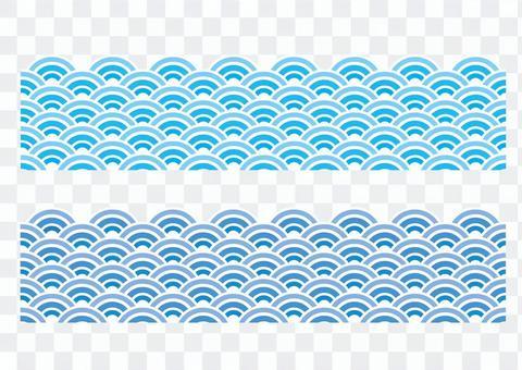 波浪圖案_藍色