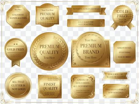 Label set 6 Gold label