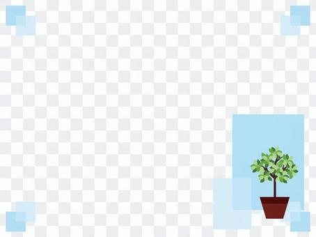 清新的家庭植物框架/框架