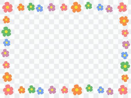 簡單的花裝飾框架2