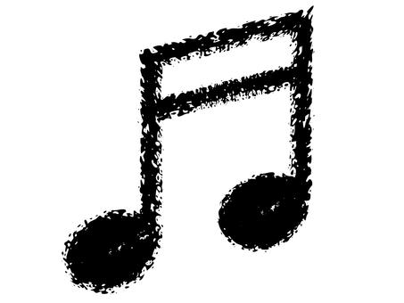 "Crayon handwritten ""16th note doublet"" black"