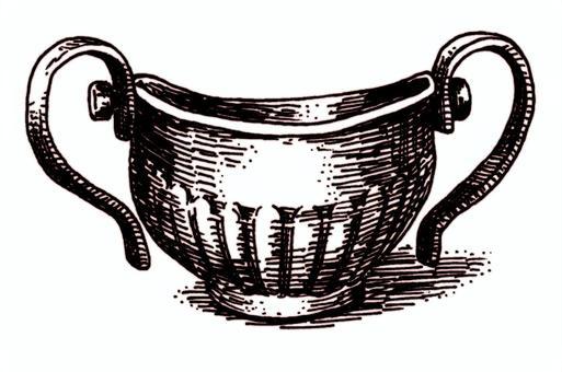 鋼筆劃仿古銅風格鍋帶柄