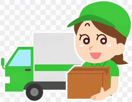 卡車和送貨員