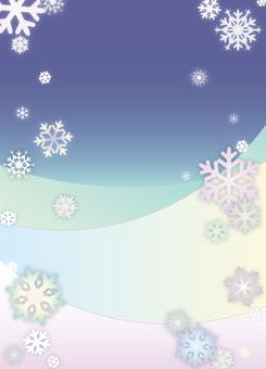 Snow falling night