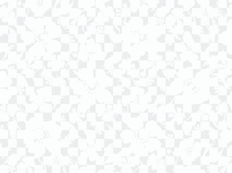 現代花卉圖案1_white /深藍色背景