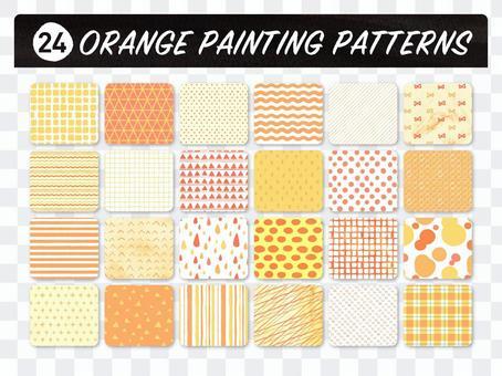 Hand-painted pattern set [orange]