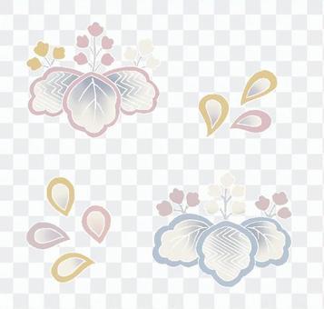 桐の花の素材セット
