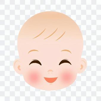 寶貝的臉笑了起來