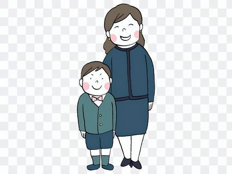 入学式 母と息子