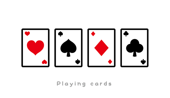 Playing cards cute icon