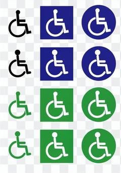 車椅子マーク、障害者マーク ピクトグラム