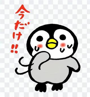 Waving hand penguin chick 3