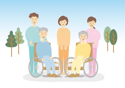 Nursing wheelchair elderly
