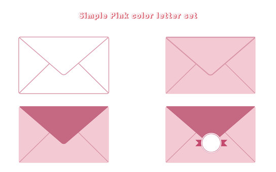 Letter set simple pink color