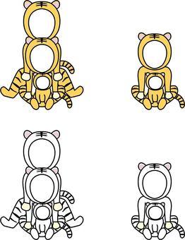 老虎蹣跚學步和貓臉空2