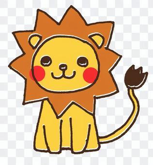 ライオンのかわいい動物イラスト1