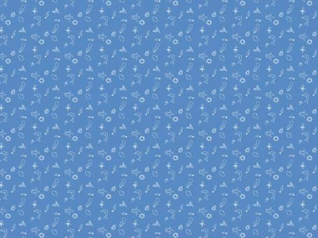 青バック海の生き物壁紙 背景