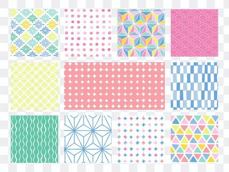 Hand-painted Japanese pattern background / pop