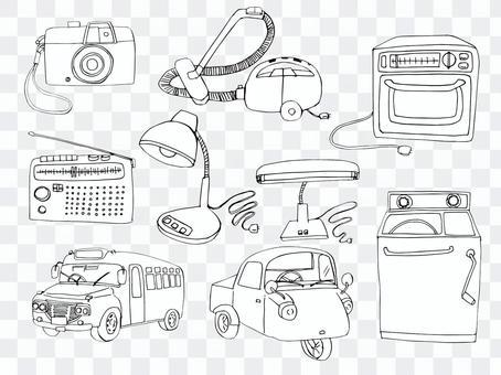 昭和的家電和車輛