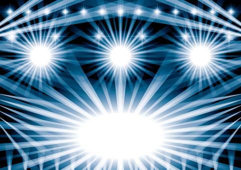 燈光璀璨的現場音樂會舞台