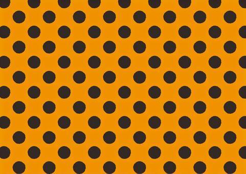 大圓點<橙色x黑色>