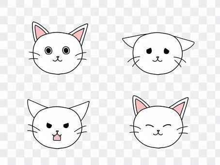 貓的面部表情集
