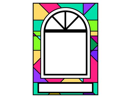 多彩的窗口背景