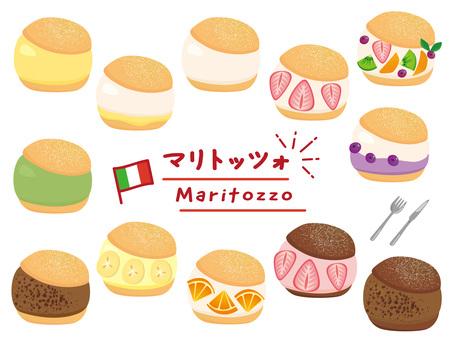 Maritozzo assortment