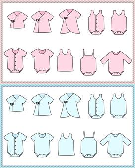 嬰兒內衣(粉色和淺藍色)