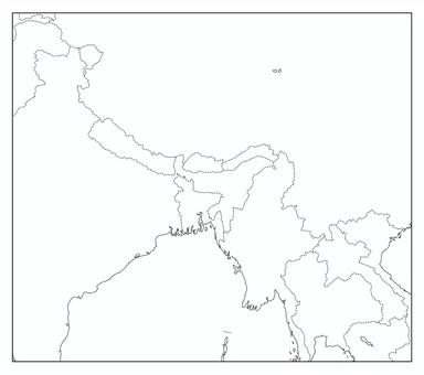 不丹空白地圖