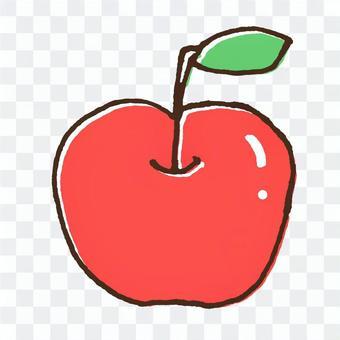 かわいい果物のイラスト7リンゴ