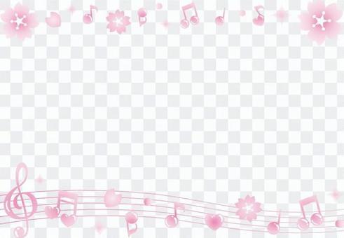 櫻花筆記框架(線)