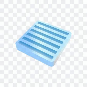 橡膠板(藍色)