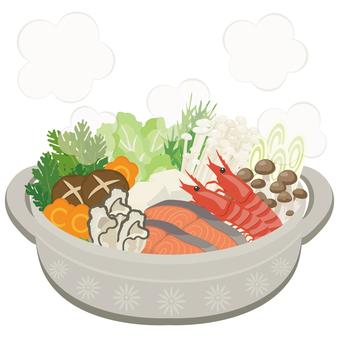 Japanese food ★ Hot pot dish Seafood chanko nabe