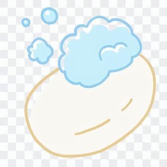 塗鴉風格的肥皂和泡沫
