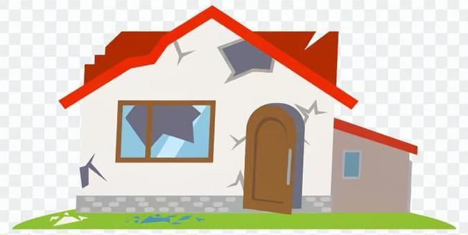 地震/倒塌的房子