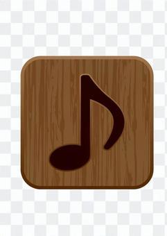 Eighth note - woodgraining