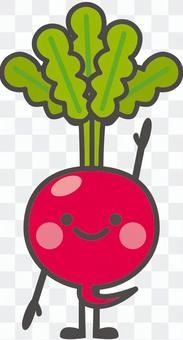 野菜キャラクター【ラディッシュ】
