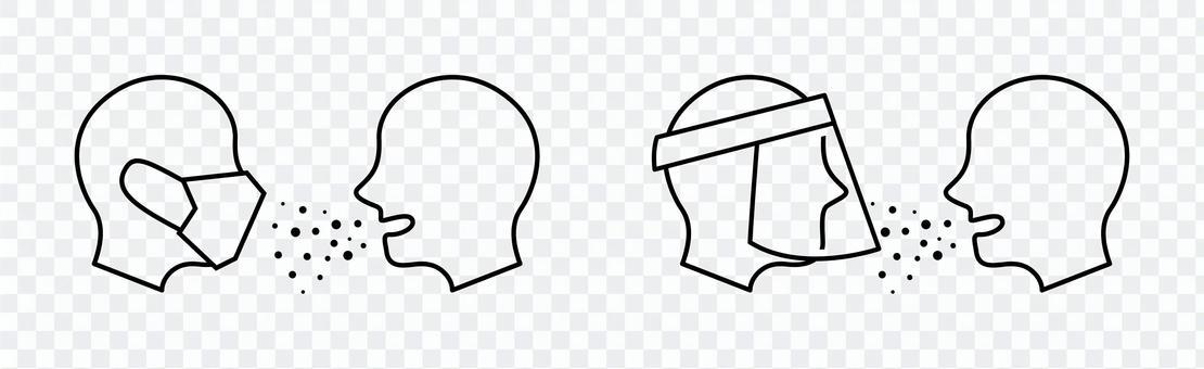 使用口罩和麵罩防止液滴感染