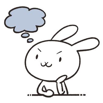 Thinking rabbit